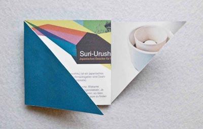 Booklet für Packaging von japanischem Geschirr